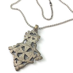 Jewelry - Antique Templar Cross Style Pendant Necklace 18""